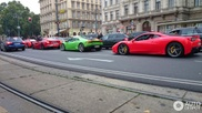 Four Italians driving around in Vienna