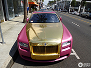 Roze Rolls-Royce Ghost is net een speeltje