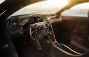 Dit is het interieur van de McLaren P1 GTR