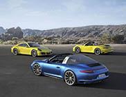 Nieuwe Porsche 911 Carrera 4 en 4S en Targa 4 en 4S