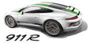 We kijken hier naar de Porsche 911 R