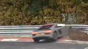 Audi R8 V10 Plus verslikt zich in de Nordschleife
