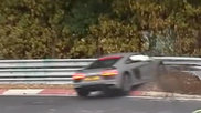 Audi R8 V10 Plus chokes on the Nordschleife