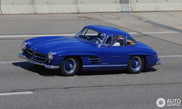 Blue Mercedes-Benz 300SL Gullwing is beautiful