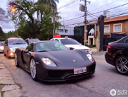 Matte black Porsche 918 Spyder stands out in Sao Paulo