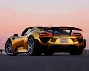 Gouden Porsche 918 Spyder zien we volgend jaar terug in Europa