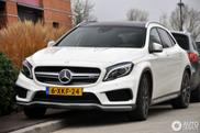 Eerste Mercedes-Benz GLA 45 AMG gesignaleerd in Nederland