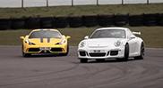 Chris Harris gaat plankgas in de 458 Speciale en GT3