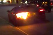 Película: Las llamas de un Lamborghini Aventador LP700-4