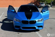Matte blue BMW M5 F10 looks amazing