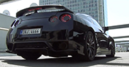 Movie: having fun with a Nissan GT-R in Prague