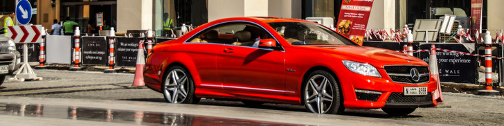 Red Mercedes-Benz CL 63 AMG is a rarity