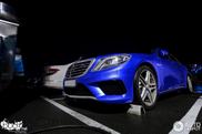 Bright blue looks perfect on the Mercedes-Benz S 63 AMG