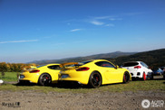 Almost identical Cayman GT4s visit the Nürburgring