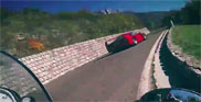 Movie: BMW S1000RR chases a Ferrari F40