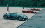 Movie: hypercar shootout, which car is the fastest?