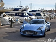 Baby blue Aston Martin One-77 never bores us