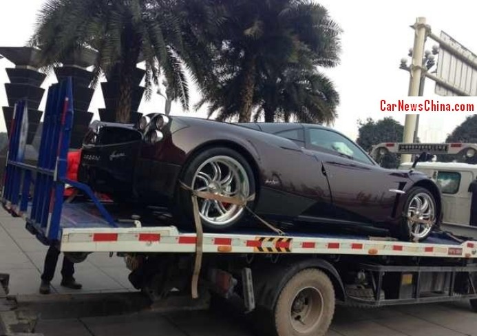 Pagani Huayra can be spotted in China