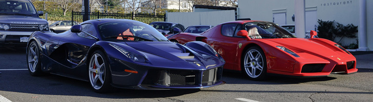 Italian supercars spotted in millionairs enclave Greenwich