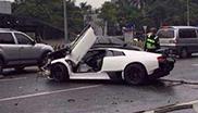 Chinees schrijft Lamborghini Murciélago LP670-4 SuperVeloce af