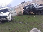 Bizarre clash met twee G-Klasses in Azerbeidzjan