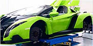 Lamborghini builds Veneno Roadster in the colour Verde Singh