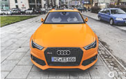 Orange RS6 perks up Warsaw