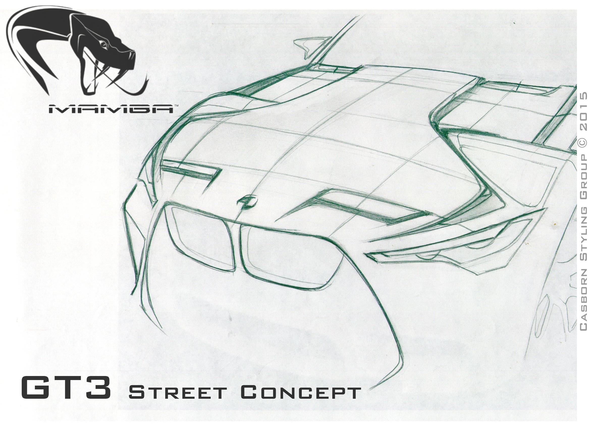 产品手绘线稿赛车