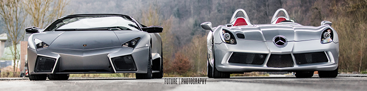 Photoshoot: Lamborghini Reventón Roadster & McLaren SLR Stirling Moss