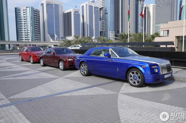 Looking good in Dubai: colourful Rolls-Royce combo!