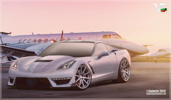 Rendering: Chevrolet Corvette Stingray ZR1