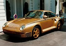 Drie unieke Porsche 959's gespot in Parijs