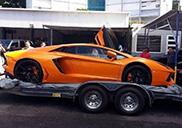 First Lamborghini Aventador LP700-4 arrived on Puerto Rico