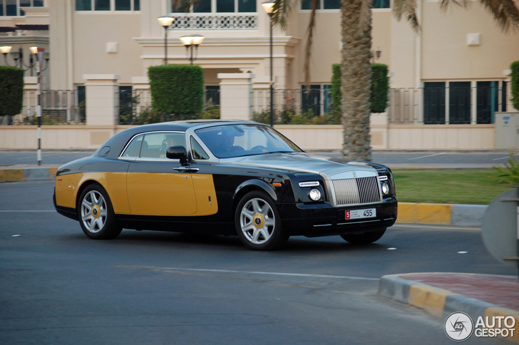 Spotted: unique Rolls-Royce Phantom Coupe Baniyas Gold & Baniyas Black