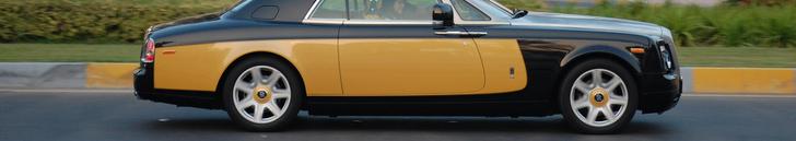 Avvistata una Rolls-Royce Phantom Coupe Baniyas Gold & Baniyas Black!
