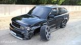 Range Rover gehavend achtergelaten in Dubai