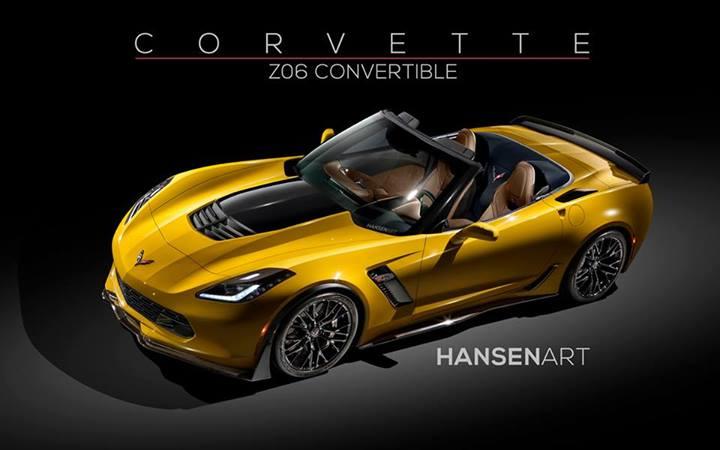 Rendering maakt de Corvette C7 Stingray Z06 enorm begeerlijk