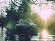 Napušten i oštećen Audi RS5