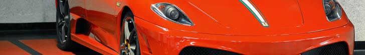 Ferrari Scuderia Spider 16M spotted in a Polish garage