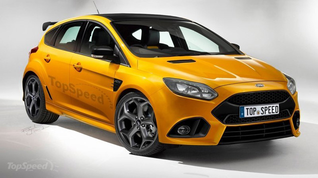 rendering: ford focus rs 2015