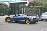 Blue Huayra spotted at the factory