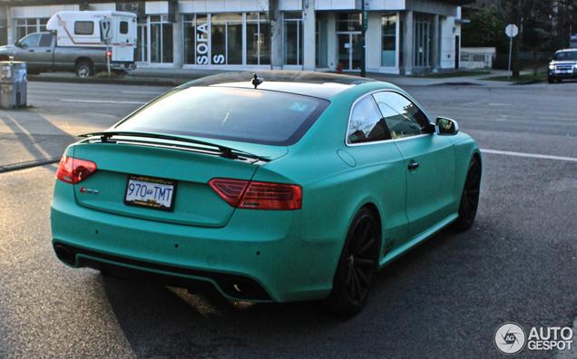 Emerald-groene Audi RS5 is uniek in z'n soort