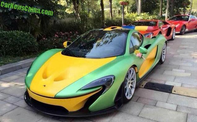 McLaren P1 is de parel van een bruiloft in China
