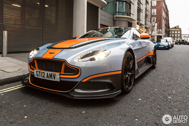 aston martin vantage gt12 in the center of london