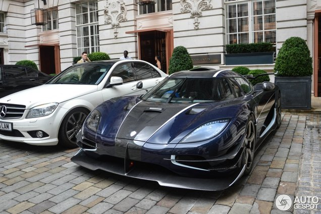 Almost all copies of the Koenigsegg One:1 are spotted