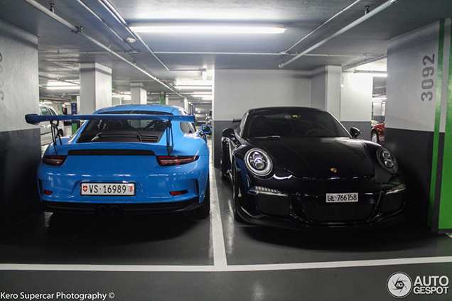 Spotted Baby Blue Porsche 991 Gt3 Rs