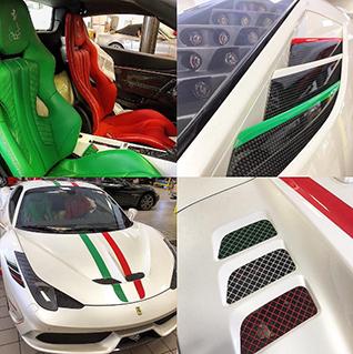 Ian Poulter zijn Ferrari 458 SpecialeA is inderdaad heel speciaal