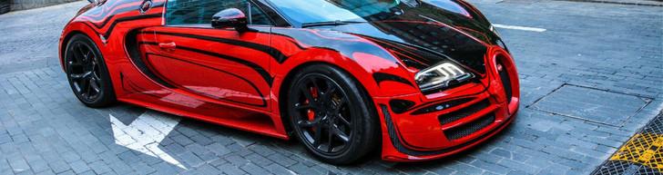 """La Bugatti Veyron """"L'Or Rouge"""" dans toute sa splendeur"""