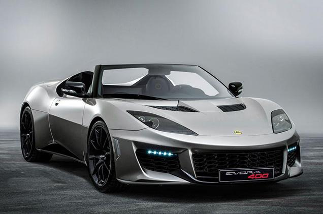 Lotus Evora 400 nu ook als Roadster