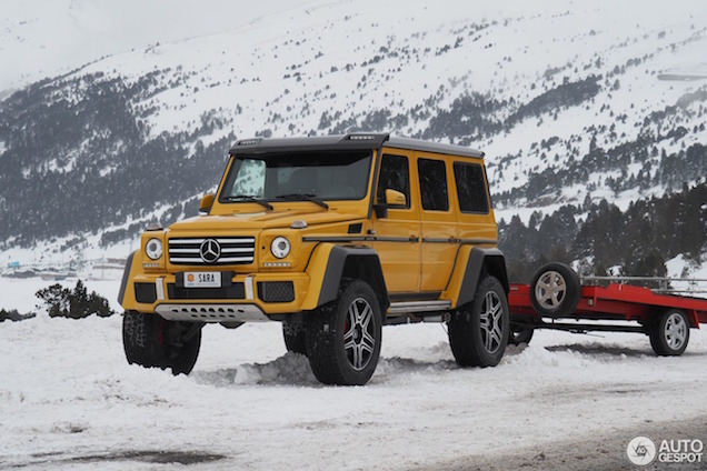Mercedes-Benz G500 4x4 is de ideale wintersport vriend